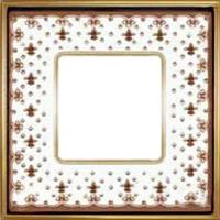 Рамка Vintage Porcelain (коричневая лилия/блестящее золото)