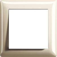 Рамка Standard 55 (пластик кремовый глянцевый)
