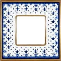 Рамка Vintage Porcelain (голубая лилия/блестящее золото)