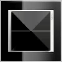 Рамка Event Clear (пластик прозрачный черный-глянц.белый)