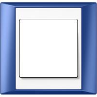 Рамка A Plus (пластик синий-белый)