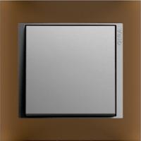 Рамка Event Opaque (пластик матово-коричневый/алюминий)