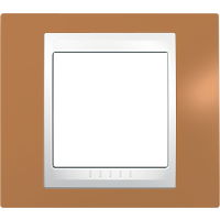 Рамка Unica Хамелеон (пластик оранжевый/белый)