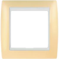 Рамка Simon 82 (пастель кремовая)