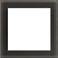 Рамка Aura Glass (cтекло черное)