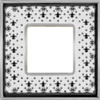 Рамка Vintage Porcelain (черная лилия/блестящий хром)