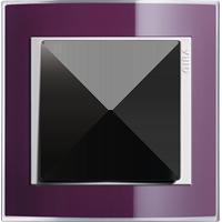 Рамка Event Clear (пластик прозрачный темно-фиолетовый-глянц.белый)
