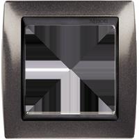 Рамка Simon 82 (серый гранит с черной вставкой)