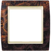 Рамка Simon 82 (корень ореха с бежевой вставкой)