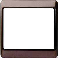 Рамка Arsys (пластик коричневый глянец)