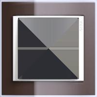 Рамка Event Clear (пластик прозрачный коричневый-глянц.белый)
