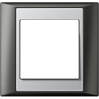 Рамка A Plus (пластик антрацит-алюминий)