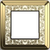 Рамка ClassiX Art (латунь/кремовый)