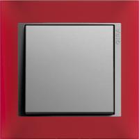 Рамка Event Opaque (пластик матово-красный/алюминий)