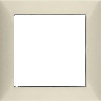 Рамка S.1 (пластик кремовый (белый с блеском))