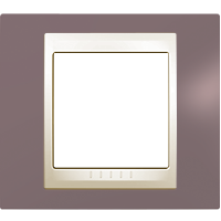 Рамка Unica Хамелеон (пластик лиловый/бежевый)