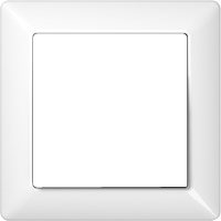Рамка AS 500 (пластик белый глянцевый)
