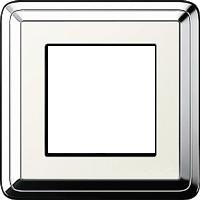 Рамка ClassiX (хром/кремовый)
