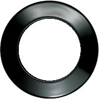 Рамка Serie 1930 (пластик черный глянцевый)