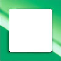 Рамка Busch-axcent (пластик зеленый глянец)