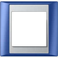 Рамка A Plus (пластик синий-алюминий)