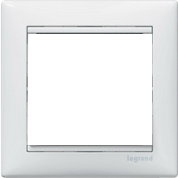 Рамка Valena (пластик белый глянцевый)
