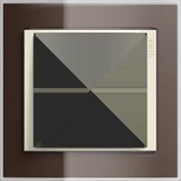 Рамка Event Clear (пластик прозрачный коричневый-кремовый глянц.)