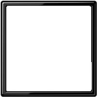 Рамка LS 990 (пластик черный глянцевый)