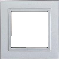 Рамка Aura Basis (пластик алюминий)