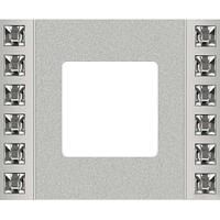 Рамка Crystal De Luxe (декор/блестящий хром)