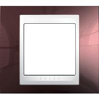 Рамка Unica Хамелеон (пластик терракотовый/белый)