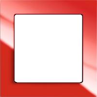 Рамка Busch-axcent (пластик красный глянец)