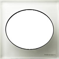 Рамка Tacto (белое стекло)
