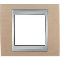 Рамка Unica TOP (металл оникс/алюминий)