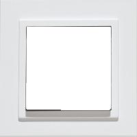 Рамка Aura Basis (пластик белый)