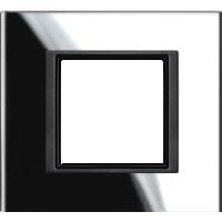 Рамка Unica Class (черное стекло)