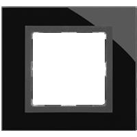Рамка Simon 82 Nature (черное стекло)