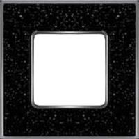 Рамка Vintage Corinto (черный кварц/блестящий хром)