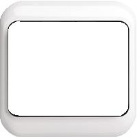 Рамка Alpha Nea (пластик белый глянец)