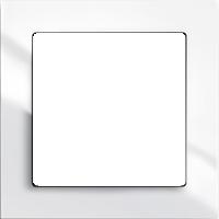 Рамка Busch-axcent (пластик белый глянец)